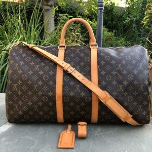 LV Keepall Bandouliere 55•STRAP, HANDLE & NAME TAG